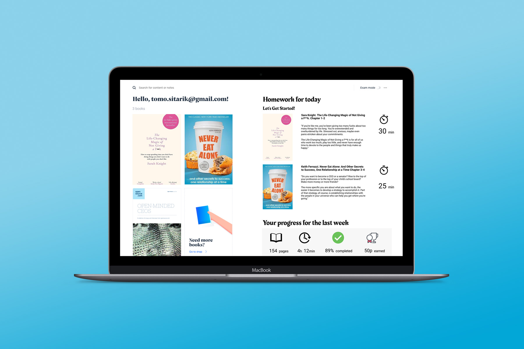 Digital study books platform